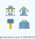 Vector - Set of Pets Related Vector Icons. Flat vector related icon for web and mobile applications 001 41850019