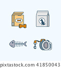 Vector - Set of Pets Related Vector Icons. Flat vector related icon for web and mobile applications 007 41850043