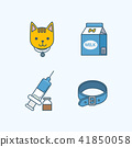 Vector - Set of Pets Related Vector Icons. Flat vector related icon for web and mobile applications 006 41850058