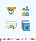 Vector - Set of Pets Related Vector Icons. Flat vector related icon for web and mobile applications 005 41850069