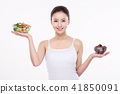 Woman Beauty Concept Stock Photos. Concept of healthy lifestyle for face, body, diet, fitness and so on.  018 41850091