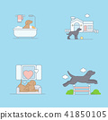 Vector - Pet's daily life, various companion animals vector illustration 001 41850105