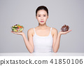 Woman Beauty Concept Stock Photos. Concept of healthy lifestyle for face, body, diet, fitness and so on.  013 41850106