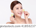 RF photos - beauty portrait of a young woman isolated on white background, concept for health and skin care. 109 41850237