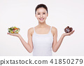 Woman Beauty Concept Stock Photos. Concept of healthy lifestyle for face, body, diet, fitness and so on.  016 41850279