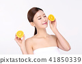 RF photos - beauty portrait of a young woman isolated on white background, concept for health and skin care. 088 41850339