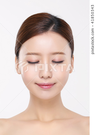 RF photos - beauty portrait of a young woman isolated on white background, concept for health and skin care. 019 41850343