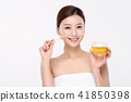 RF photos - beauty portrait of a young woman isolated on white background, concept for health and skin care. 116 41850398