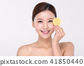 RF photos - beauty portrait of a young woman isolated on white background, concept for health and skin care. 093 41850440