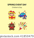 Vector - Spring event day icon set in colorful background 005 41850479