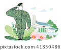 illustration of a cartoon military life 001 41850486