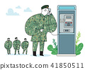 illustration of a cartoon military life 006 41850511