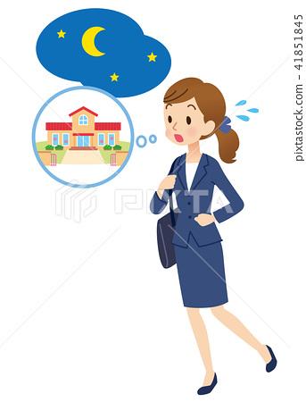 送別和回頭再見 遲了 事業女性 41851845