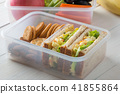 Lunch box set of Egg salad with sandwich in box 41855864