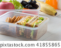 Lunch box set of Egg salad with sandwich in box 41855865