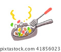 Stir-fried dish with frying pan 41856023