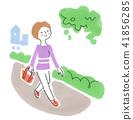 산책하는 여성 41856285