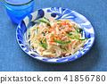 소면 볶음 (소 민 볶음) 오키나와 요리. 소면 볶음. 41856780