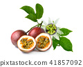 Passion fruit isolated on white background 41857092