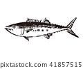수묵화, 물고기, 생선 41857515