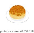 white background, confectionery, cream puff 41859810