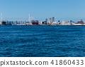 大阪安康河口的風景。靠近大阪。 41860433