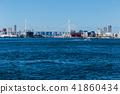 大阪安康河口的風景。靠近大阪。 41860434