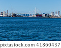 大阪安康河口的風景。靠近大阪。 41860437