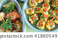 Top view of Thai cuisine famous international food 41860549