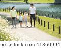 Family Jogging Image กีฬากลางแจ้ง 41860994