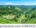 初夏Yamakoshi的梯田和露台池塘 41862035