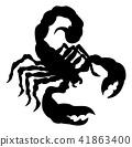 Scorpion Animal Silhouette 41863400