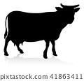 cow silhouette vector 41863411