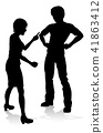 arguing silhouette couple 41863412