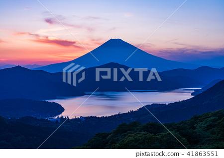 """""""神奈川縣""""從箱根代官山到富士山的日落景觀 41863551"""