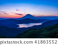 """Kanagawa prefecture"" From Hakone Daikanyama to Mt. Fuji sunset view 41863552"