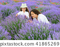 young woman and girl are in the lavender field 41865269