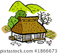 House with a roof-shaped roof Nostalgic landscape 41866673