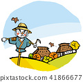 Scattered scenery from scarecrow and roof of roof house 41866677