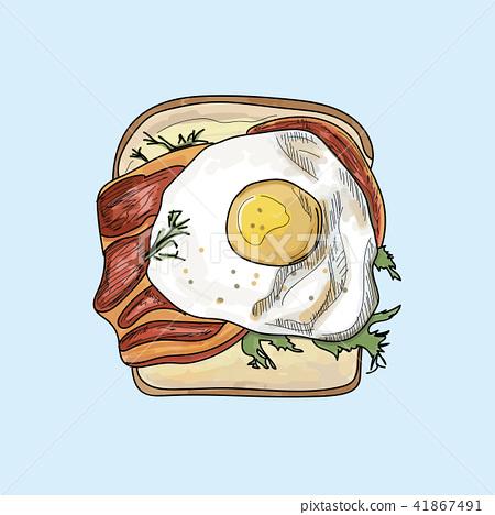 cute illustration of simple toast.  41867491