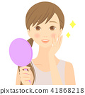 鏡子 手拿鏡 成熟的女人 41868218