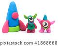 Play dough Alien on white background 41868668