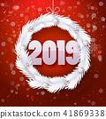 vector, christmas, wreath 41869338