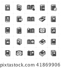 Icon set - book filled icon style 41869906