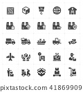 Icon set - logistic and delivery filled icon style 41869909