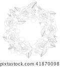 벡터, 조리개, 꽃 41870098