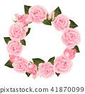 Pink Rose Flower Wreath 41870099