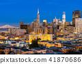San Francisco downtown skyline 41870686