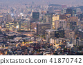Night view of Seoul Downtown cityscape 41870742