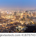 Night view of Seoul Downtown cityscape 41870743
